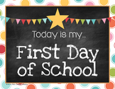 FREE 15,000 Follower Gift - First & Last Day of School Photo Signs