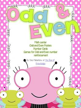 ~FREE~ 17 Page Bug-a-boo Odd and Even Numbers K-G1
