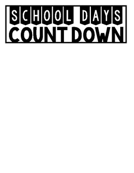 FREE 180 School Countdown Page