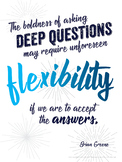 "FREE 18x24"" POSTER: Deep Questioning, Critical Thinking, I"