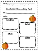 FREE 1.RI.5 Nonfiction Main Idea/details Graphic Organizer
