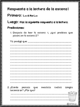 FREE 1st SCENE from SPANISH Readers Theater:  Natural Resources and Conservation