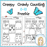 FREE Creepy Crawly Counting Sets 0 -10 Printables