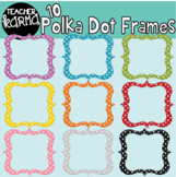 Polka Dotted Borders trimmed in GLITTER