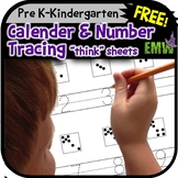 FREE 2 Worksheets for Writing Numbers and Calendar Practice