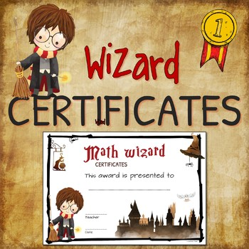 FREE - 2 award certificates for Harry Potter fans