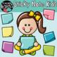 Sticky Note Kids Clipart