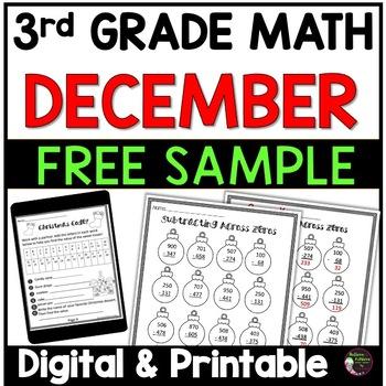 3rd Grade Math for December- FREEBIE!