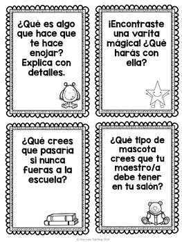 FREE 20 Spanish Writing Prompts