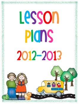 FREE 2012-2013 Lesson Plan Cover