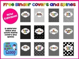 {FREE} 2013-2014 EDITABLE Black and White Themed Teacher Binder Covers