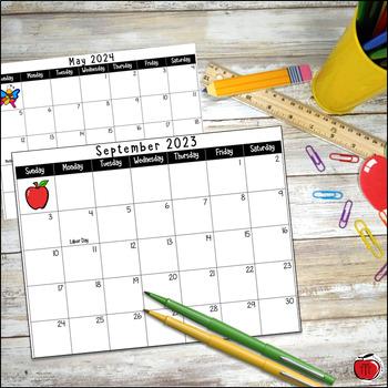 FREE 2017/2018 School Year Calendar