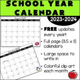 FREE 2018-2019 School Year Calendar