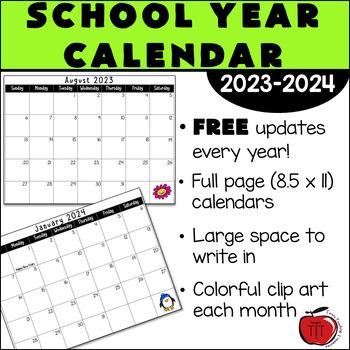 free 2018 2019 school year calendar