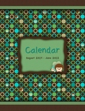 FREE - 2015-2016 Monthly School Calendar {Hedgehogs - blue