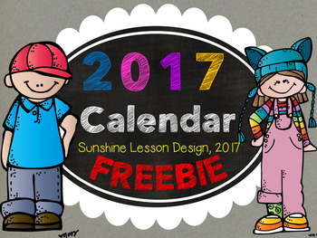 FREE 2017 Calendar! FREEBIE FUN to start your year off right!
