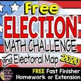 Election 2016 Electoral Votes Math Challenge-FREE Math Printable & Electoral Map