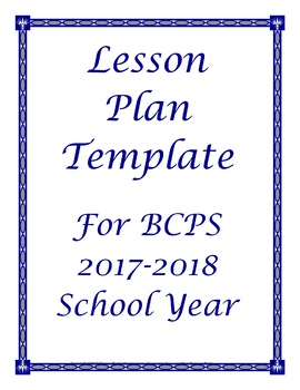 FREE 2017 2018 Broward Florida Lesson Plan Template Editable Schedule Outline