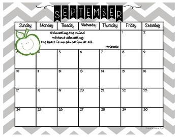 FREE! 2017-2018 School Year Calendar