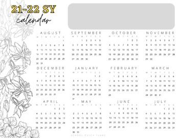 FREE 2017-2018 School Year Watercolor Calendar