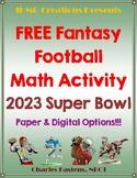 FREE 2021 Super Bowl Fantasy Football Math Activity-Common Core