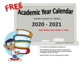 FREE 2018-19 School Year Organizational Calendar MS Word Format