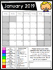 FREE 2018-2019 Clip Chart Behavior Calendars (Non-Editable)