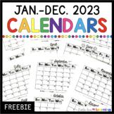 FREE 2021 Printable Calendar (January - December)