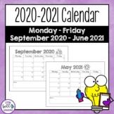 FREE 2020-2021 School Calendar