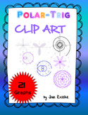 Clip Art FREE Polar Graphs for Trigonometry or any Math