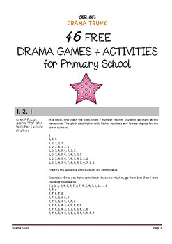 Drama Games and Activities for Primary (vol 1)