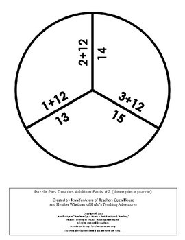 FREE Math Centers: Adding, Subtracting, and Multiplying Puzzle Pies {PP}