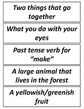 FREE (24) Homophone Word/Definition Cards & Sentence Completion Activity