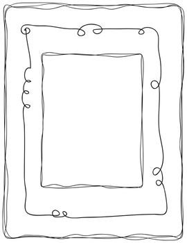 Border Bunch #1 Doodles Clip Art ~ Frames