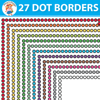 FREE 27 Colorful Dot Borders and Frames, Border Paper