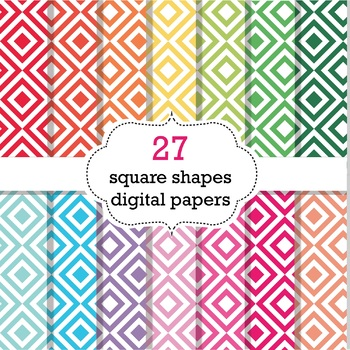 FREE 27 Square Shapes Digital Papers