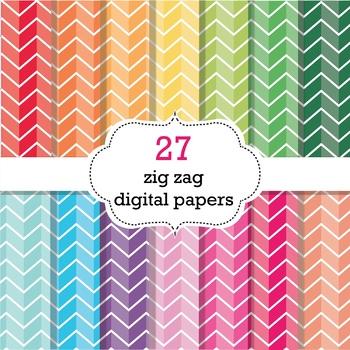 FREE 27 Zig Zag Digital Papers
