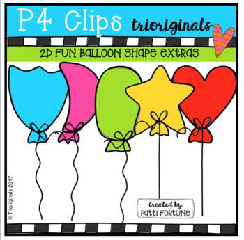 FREE 2D FUN Balloon Shape EXTRAS (P4 Clips Trioriginals Clip Art)