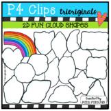 FREE 2D FUN Cloud Shapes (P4 Clips Trioriginals)