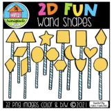 FREE 2D FUN Wands (P4 Clips Trioriginals) SHAPE CLIPART