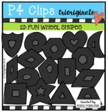 FREE 2D FUN Wheel Shapes )P4 Clips Trioriginals) MATH CLIPART