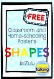 FREE 2D Ice-Cream Chevron isiZulu Shapes Display Posters