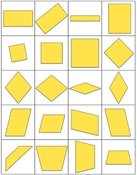 FREE 2D Shape Cards for sorting, matching, and other geometry activities