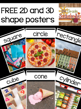 FREE 2D and 3D Shape Posters
