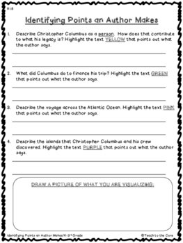 FREE 2nd-4th Grade Christopher Columbus Text Passage and Graphic Organizers