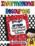 {FREE} Reading Journal Prompts {Informational Resources CCSS}