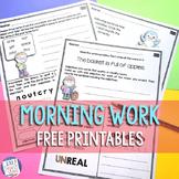 Second Grade Morning Work Bundle FREE SAMPLE |  Morning Wo