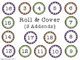 FREE 3 Addend Roll & Cover {Math Game}