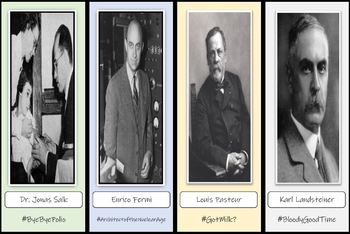FREE!  32 Scientists Bookmarks