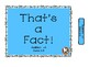 FREE That's a FACT! File Folder Activity.. ADDITION...Plus 0 (+0)